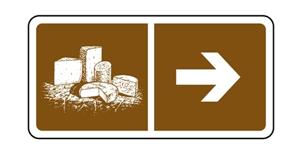 Panneau de la Route des Fromages AOP d'Auvergne