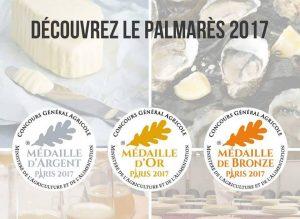 Les Fromages AOP d'Auvergne primés au Concours Général Agricole 2017