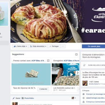 Le Bleu d'Auvergne est sur Facebook !