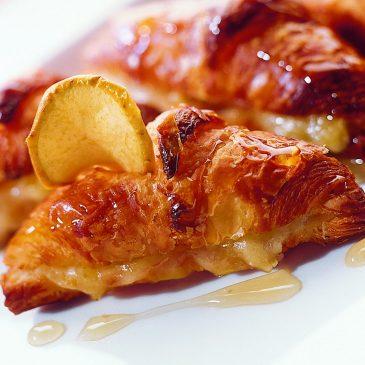 Petits croissants miellés au Salers