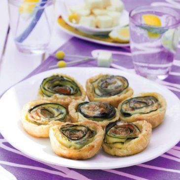 Tartelettes Fleurs de Courgettes et Saint-Nectaire