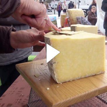 Le fromage AOP Salers en dégustation à la Foire de la Saint-Géraud 2017