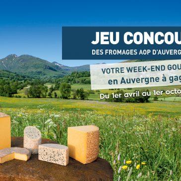 Jeu : gagnez votre séjour en Auvergne sur la Route des Fromages AOP d'Auvergne