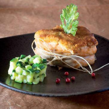 Tournedos de saumon doré au Cantal jeune