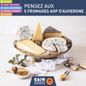 Pensez à nos 5 fromages AOP d'Auvergne!