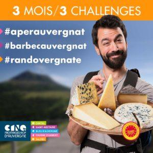 Vivez un été de partage avec les challenges des Fromages AOP d'Auvergne!